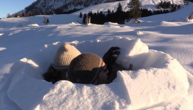 Iglu-Schnee-Winter
